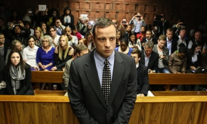 Oscar Pistorius appears at pre trial hearing in Pretoria