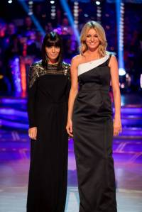 WARNING: Embargoed for publication until: 07/09/2014 - Programme Name: Strictly Come Dancing - TX: 07/09/2014 - Episode: Launch Show (No. n/a) - Picture Shows: **EMBARGOED FOR PUBLICATION UNTIL 00:01 HRS ON SUNDAY 7TH SEPTEMBER 2014** Claudia Winkleman, Tess Daly - (C) BBC - Photographer: Guy Levy